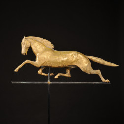 "Large Gilded Molded Copper ""Mountain Boy"" Running Horse Weathervane"
