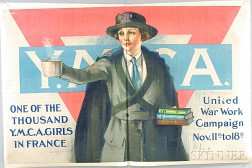 Two U.S. YMCA and YWCA WWI Lithograph Posters