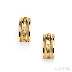 "18kt Gold ""Atlas"" Earrings, Tiffany & Co."