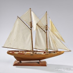 Wooden Model of the Schooner Bluenose