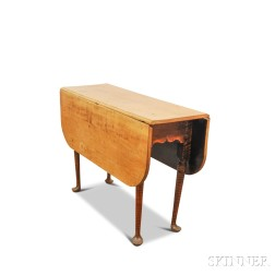 Queen Anne Tiger Maple Drop-leaf Table