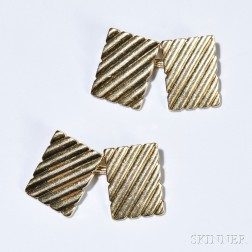 14kt Gold Cuff Links, Tiffany & Co., 11.4 dwt, signed.