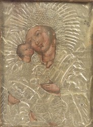 Russian Icon of the Virgin of Tenderness