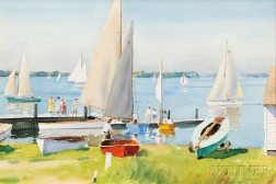 Harry Leith-Ross (American, 1886-1973)      Yacht Club / Delaware River