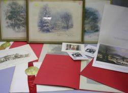 Three Framed Johnson Administration Presidential Christmas Cards
