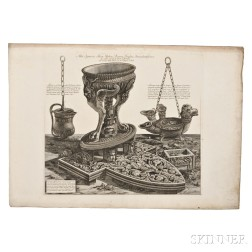 Piranesi, Giovanni Battista (1720-1778) Fourteen Etchings on Twelve Sheets from Vasi Candelabri Cippi.