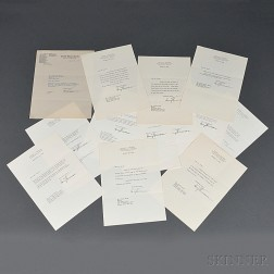 Truman, Harry S. (1884-1972) Thirteen Typed Letters Signed, 1937-1972.