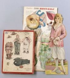 Two Sets of Percy Reeves Jumbo Movy-Dols and a Boxed Saalfield Set