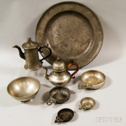Eight Pieces of Pewter