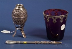 South American Silver Mate Cup and Bombilla