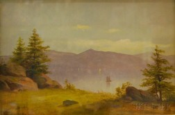 Charles F. Lanman (American, 1819-1895)      Sketch from an Island in the Lower St. Lawrence.