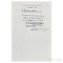 Moore, Marianne (1887-1972) Two Typed Letters Signed.