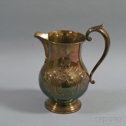 Hunt Silver Co. Chased Sterling Silver Water Pitcher