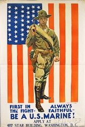 James Montgomery Flagg First in the Fight - Always Faithful   U.S. WWI   Lithograph Poster