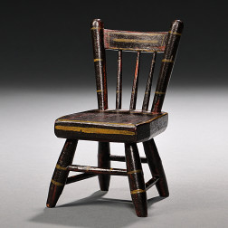 Miniature Paint-decorated Tablet-back Windsor Chair