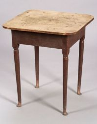 Queen Anne Red Painted Maple Tea Table