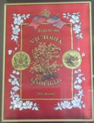 Framed Printed and Painted Silk Victorian Memorial for President James A. Garfield