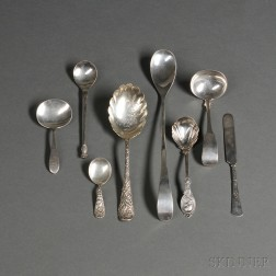 Seven Pieces of American Sterling Silver Flatware