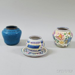 Four Pieces of Poole Art Pottery