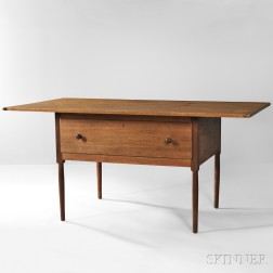 Shaker Pine, Butternut, and Cherry Worktable