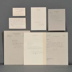 Authors and Novelists of the 20th Century, Ten Signed Letters and Cards.