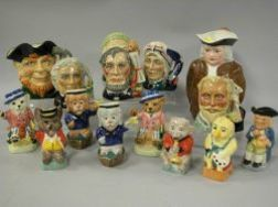 Fifteen Kevin Francis and Other Assorted Ceramic Toby Jugs.