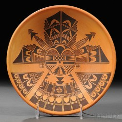 Contemporary Hopi Painted Pottery Bowl