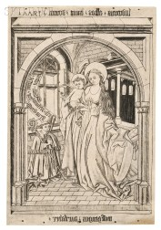 Wolfgang Aurifaber (German, 15th/16th Century)      Two Prints: The Madonna and Child with the Abbot Ludwig von Churwalden