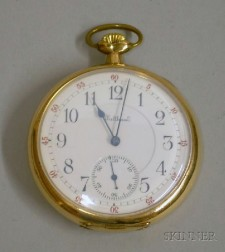 26a18724e87 Gold-filled 23-jewel Waltham Maximus Open Face Pocket Watch
