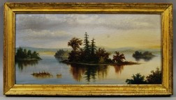 American School, 19th Century       Lake View with Islands.