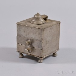 Pewter Inkstand