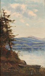 Frank Henry Shapleigh (American, 1842-1906)      Mt. Washington from Walker's Pond, Conway, N.H.