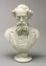 English Parian Bust of Charles Dickens