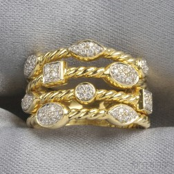 "18kt Gold and Diamond ""Confetti"" Ring, David Yurman"