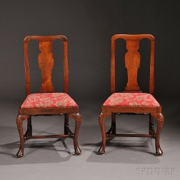 Six Queen Anne-style Mahogany Side Chairs