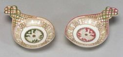 Near Pair of Russian Porcelain Kovsh