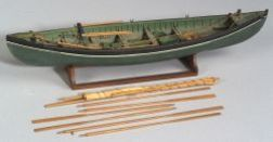 Carved and Painted Whaling Boat Model