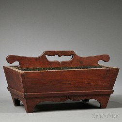 Footed Walnut Cutlery Box
