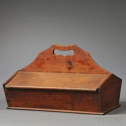 Cherry Lidded Cutlery Box