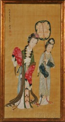 Painting Depicting Two Women