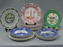 Twenty-seven Wedgwood Assorted Transfer Decorated Plates.