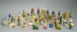 Approximately 47 Wade and Royal Albert and Royal Doulton Ceramic Figures