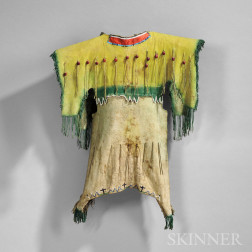 Kiowa Beaded Hide Young Girl's Dress