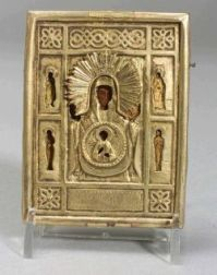 Small Russian Icon of the Virgin of the Sign