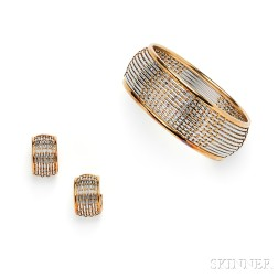 18kt Gold and Stainless Steel Suite, Cartier