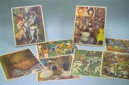 Eight Prints Depicting Diego Rivera Frescoes in Mexico