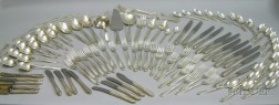 Approximately 107-piece Reed & Barton Sterling Silver Silver Wheat Pattern Flatware Service.