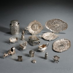 Sixteen Pieces of Silver Hollowware
