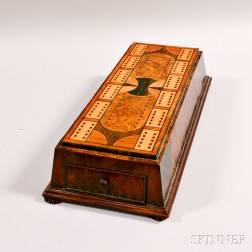 Inlaid Cribbage Board/Box