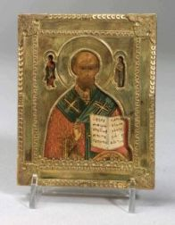 Small Russian Icon of St. Nicholas the Miracle Worker